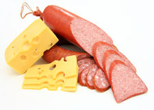 Salchicha fresca con queso Foto de archivo