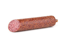 Salchicha italiana del salami fotografía de archivo