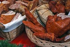 Salchicha, jamón y tocino -1 foto de archivo libre de regalías