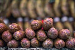 Salchicha original tradicional del chorizo Imagen de archivo