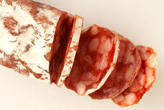 Salchicha secada del cerdo puro Foto de archivo