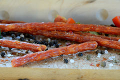 Salchicha y especias de Kabanos Foto de archivo