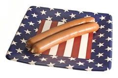 Salchichas americanas Imagen de archivo libre de regalías