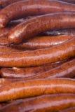 Salchichas asadas a la parilla calientes Fotografía de archivo