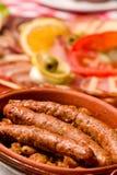 Salchichas cocidas alemán tradicional Imagen de archivo