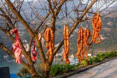 Salchichas de la garganta de Yiling el río Yangzi Three Gorges Dengying Imágenes de archivo libres de regalías