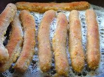 Salchichas empanadas Imagen de archivo libre de regalías