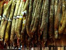 Salchichas españolas imágenes de archivo libres de regalías