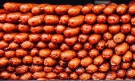 Salchichas fritas carne Imagen de archivo libre de regalías