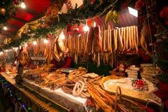Salchichas, salamis y otros productos de carne Imagen de archivo libre de regalías