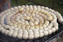 Salchichas tradicionales de Isaan fotos de archivo