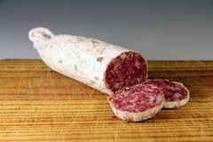 Salchichon, Spanish sausage Stock Photos