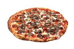 Salchichones y pizza de la seta Imagen de archivo libre de regalías