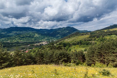 Salciua. View from the top of the hills, over Salciua village Royalty Free Stock Images
