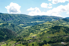 Salciua 2. View from the top of the hills, over Salciua village Royalty Free Stock Photography