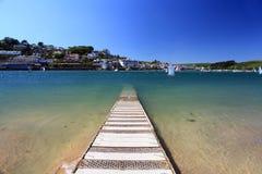 Salcombe海滩德文郡英国 免版税库存照片