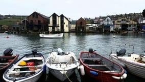 Salcombe码头区 库存照片