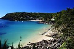 Salcombe海滩德文郡英国 免版税库存图片
