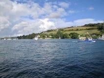 Salcombe. Boat waterfront summer days uk Stock Photos