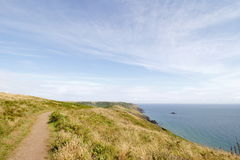 Salcombe Bolberry down, South Devon coastal footpath ,Uk Stock Photos
