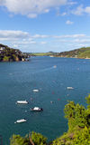 Salcombe Devon England UK view of the Kingsbridge Estuary popular for sailing and yachting Royalty Free Stock Images