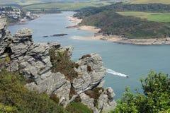 Salcombe estuary, Devon, UK royalty free stock photography
