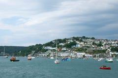Salcombe hamn, Devon, UK fotografering för bildbyråer