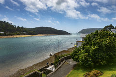 Salcombe Harbor Looking towards the Entrance Royalty Free Stock Photo