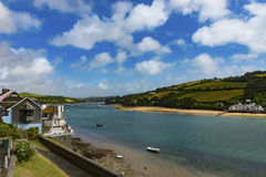 Salcombe Harbor Looking up the Estaury Royalty Free Stock Image