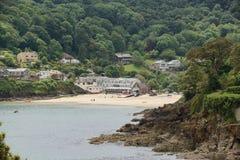 Salcombe Południowi piaski Devon Zdjęcia Royalty Free