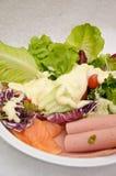 Sald di color salmone e piccante del prosciutto Immagine Stock Libera da Diritti