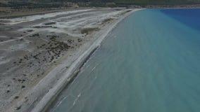 Salda Lake Aerial Views. Scene stock video