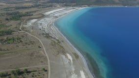 Salda Lake Aerial Views. Scene stock video footage