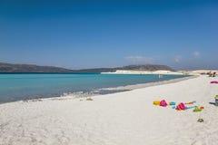 Salda sjö Burdur Turkiet Arkivfoto