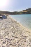 Salda sjö Burdur Turkiet Arkivbild