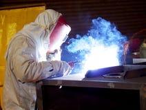 Saldatore d'acciaio sul lavoro 5 Fotografie Stock