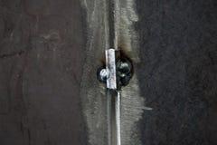 Saldatura d'acciaio unita saldando processo per montaggio del contenitore a pressione immagine stock