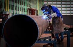 Saldatura del tubo sulla conduttura Fotografia Stock Libera da Diritti