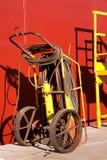 Saldatura del vagone per il trasporto dei lingotti Immagini Stock