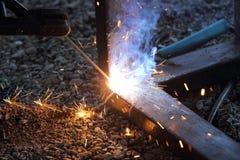Saldatura dell'acciaio Fotografia Stock