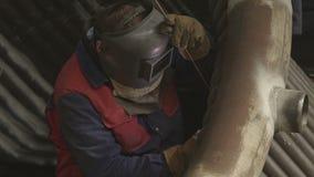 Saldatura dell'arco al tungsteno del gas stock footage