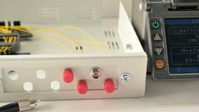 Saldatura della saldatrice di fibra ottica archivi video