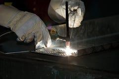 saldatura a gas Tungsteno-inerte, alluminio, Fotografia Stock