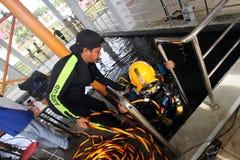 Saldatura subacquea immagini stock