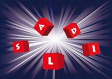 Saldi - explosief Stock Foto's