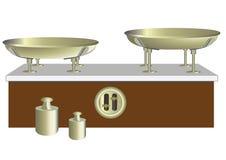 Saldo en gewichten Vector Illustratie