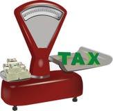 Saldo met waarde en belastingschuld Royalty-vrije Stock Afbeelding