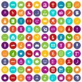 100 saldopictogrammen geplaatst kleur Royalty-vrije Stock Afbeeldingen