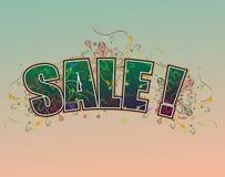 Sale. A floral design for sale Stock Image
