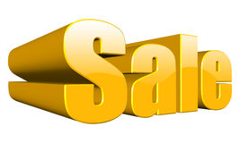 Sale. Three dimension sale text on white Royalty Free Stock Images